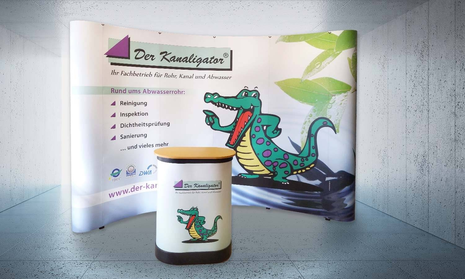 AS-DESIGN Referenz: Der Kanaligator - Neuer Messestand - Popup System