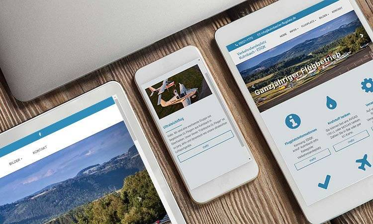AS-DESIGN Referenz: Flugplatz Kulmbach - Relaunch Webseite