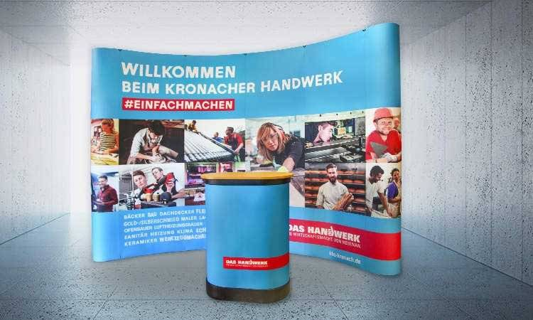 AS-DESIGN Referenz: HWK - Pop-up-System der HWK Kronach